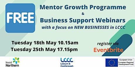 Business Information Webinar - Mentor Growth Programme tickets