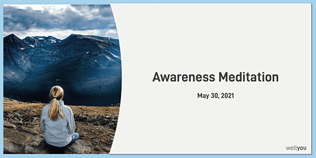 Awareness Meditation with wellyou tickets