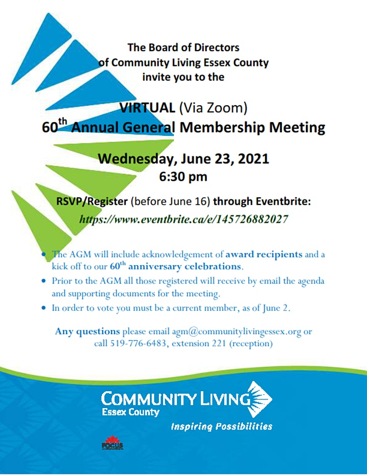 Community Living Essex County 60th Annual General Meeting image