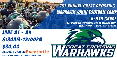 1st Annual Warhawks Youth Football Camp tickets