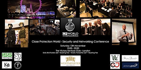 2021 - Close Protection World security and networking conference - London tickets