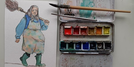 Watercolour Illustration ONLINE, live and friendly - Welly Boot Nana tickets
