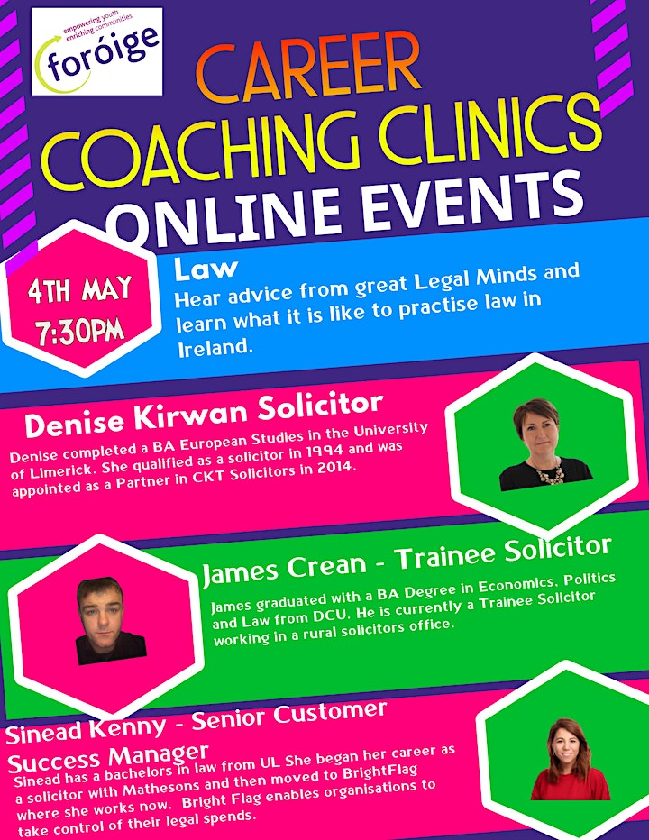 Foróige Careers Coaching Clinic - Law image