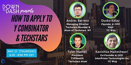 How to Apply to Y Combinator and Techstars tickets