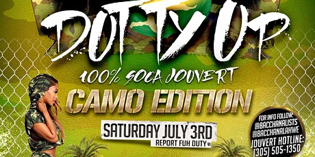 Dutty Up Camo - 100% Soca Jouvert - Miami tickets