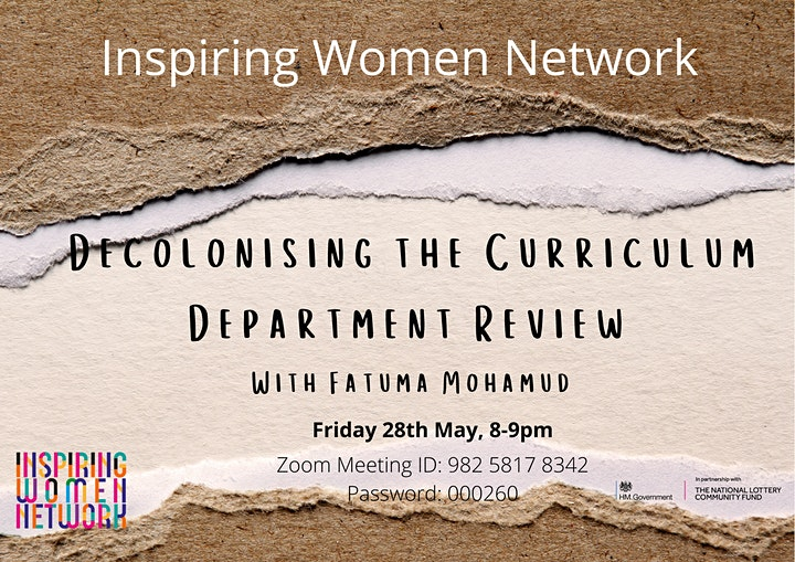 Decolonising the Curriculum Department Review image