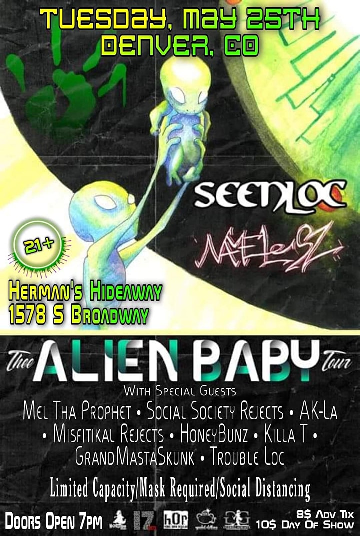 Thee Alien Baby Tour - Feat: Seenloc , Namelesz , Travis Spade + more image