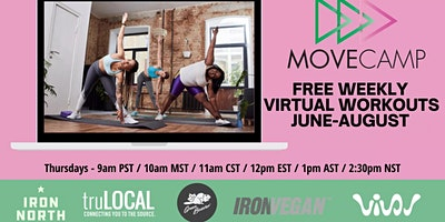 MoveCamp Virtual Movement Sessions – Summer Series