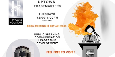 Virtual Public Speaking with Uptown Toastmasters Club tickets