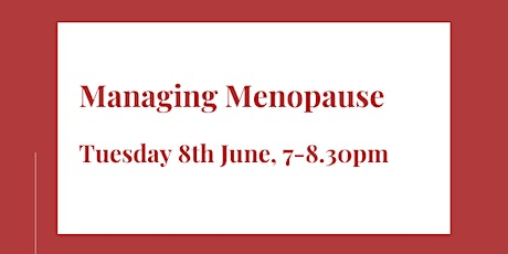 Managing Menopause tickets