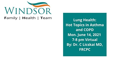 Lung Health: Hot Topics in Asthma & COPD for Primary Care Providers tickets