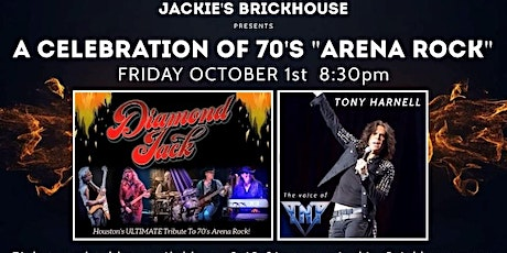 """A Celebration of 70's Arena Rock"" with DIAMOND JACK featuring TONY HARNELL tickets"