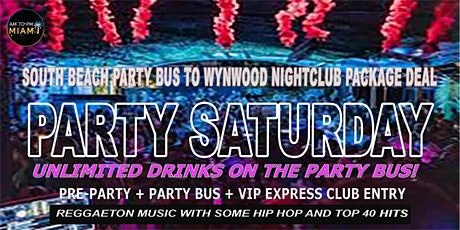 South Beach Party Bus To Miami Wynwood Nightclub - Saturday Nights tickets