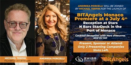 SGF  invites you for the launch of BitAngels Monaco Premiere at a July 4th billets