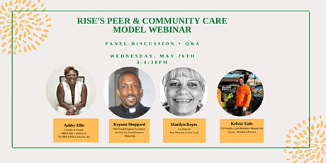 Rise's Peer & Community Care Model Webinar (Panel Discussion + Q&A) tickets