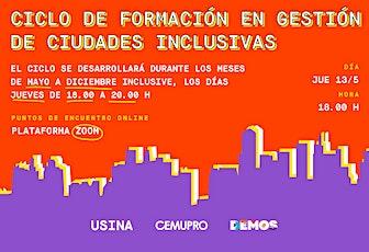 Gestión de Ciudades Inclusivas  Ciclo de Formación Técnico-Política boletos