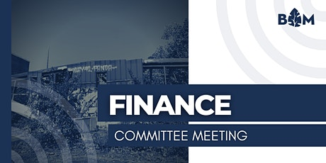 Finance Committee Meeting tickets