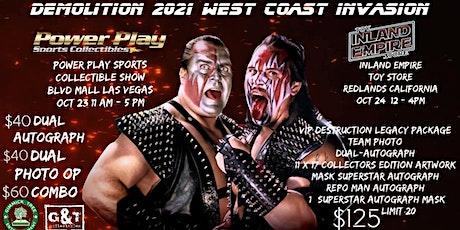 Demolition 2021 West Coast Invasion of Inland Empire Toy Store tickets