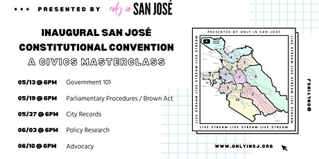 SJ Consitutional Convention | A Civics Masterclass | #1: Government 101 tickets