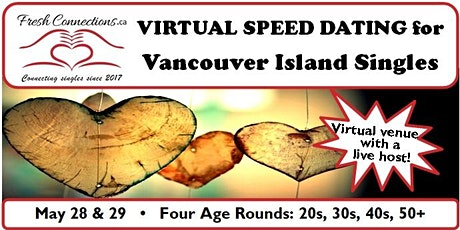 Virtual Speed Dating for Vancouver Island Singles (40s) tickets