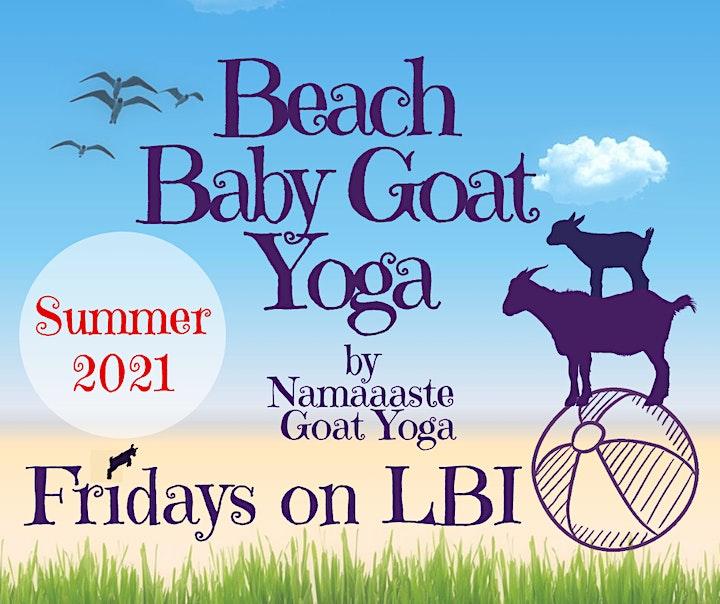 Beach Baby Goat Yoga LBI Fridays 10AM : Namaaaste Goat Yoga image