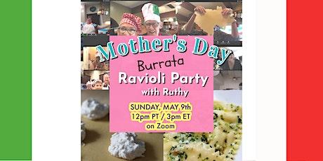 Mother's Day Burrata Ravioli Lunch tickets