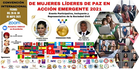 Convención Internacional de Mujeres Líderes de Paz en Acción Emergente boletos