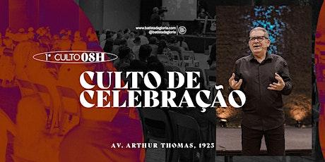 1a. CELEBRAÇÃO MANHÃ - 09/05 ingressos