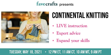 Continental Knitting tickets