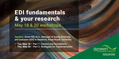 EDI fundamentals & your research: May 18 & 20 workshops tickets