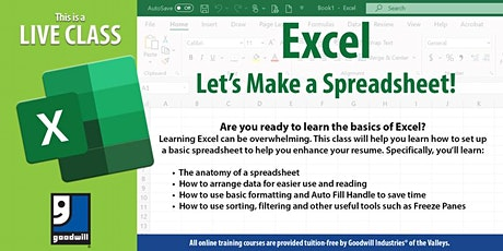 Excel: Let's Make a Spreadsheet tickets