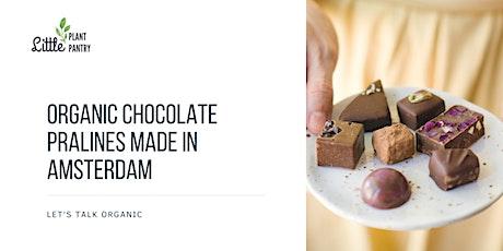 Organic chocolate pralines made in Amsterdam tickets