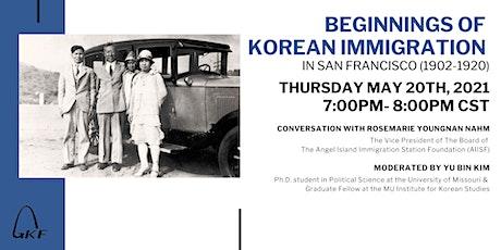 BEGINNINGS OF KOREAN IMMIGRATION IN SAN FRANCISCO (1902-1920) tickets