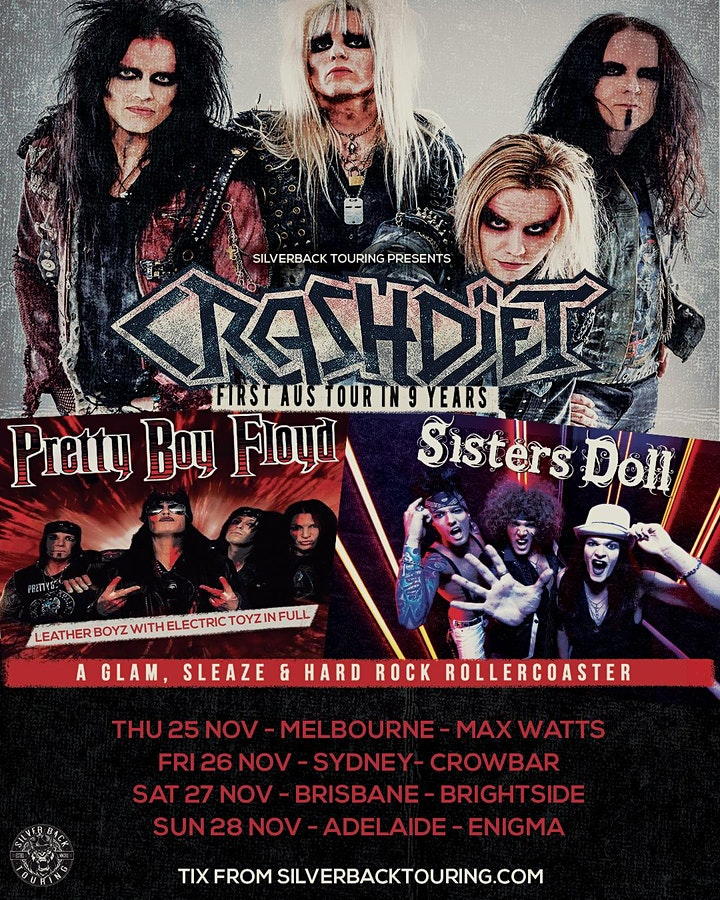 CRASHDIET - Sisters Doll support discount ticket image