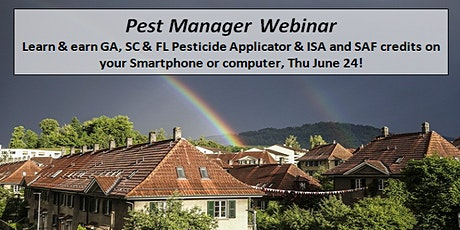 Pest Manager Webinar: Weather & Pest Control and Sanitizers & Disinfectants tickets