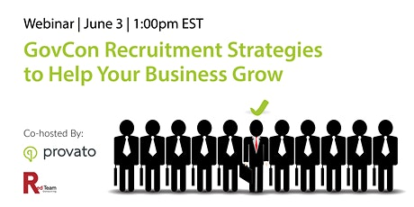[Webinar] GovCon Recruitment Strategies to Help Your Business Grow tickets
