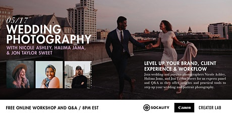 Wedding Photography with Nicole Ashley, Halima Jama, & Jon Taylor Sweet tickets