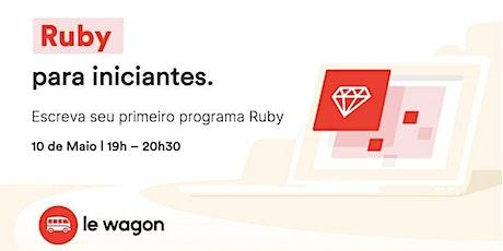 Aprenda Programação do início com Ruby | Le Wagon ingressos