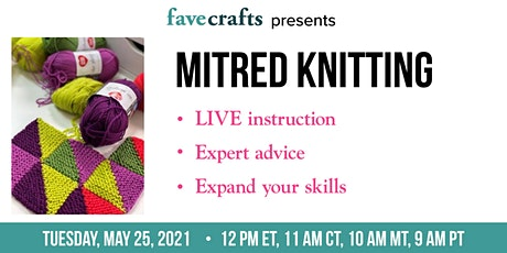 Mitred Knitting tickets