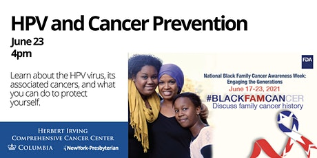 HPV and Cancer Prevention: FDA National Black Family Cancer Awareness tickets