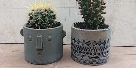 Decorative ceramic planter tickets