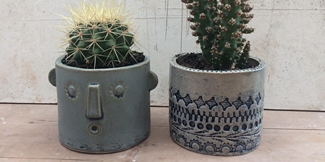Decorative ceramic planter tickets