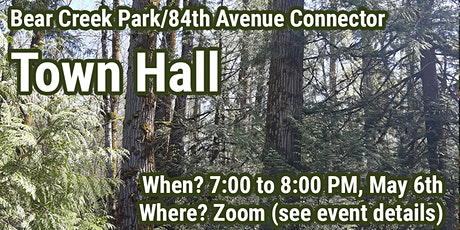 Bear Creek Park/84th Avenue Extension Town Hall #2 tickets