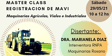 Master Class Registración de MAVI entradas