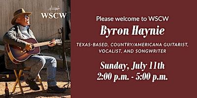 Byron Haynie on the Patio July 11
