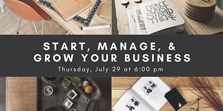 Start, Manage, & Grow Your Business with Reference Solutions tickets
