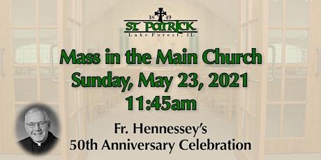 St. Patrick Church Mass, Sunday, May 23 at 11:45am tickets