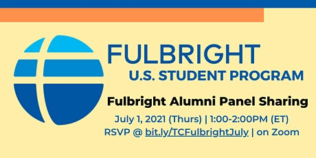 TC Fulbright Alumni Panel Sharing tickets