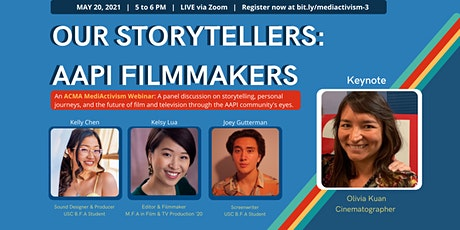 MediActivism  Webinar | Our Storytellers: AAPI Filmmakers bilhetes