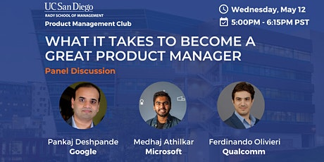 UCSD Rady Product Management Club Presents: PM's in Technology tickets